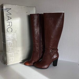 Marc Fisher - size 9 NEW brown leather boots